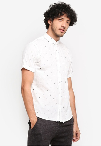 JAXON white Nautical Stripe Shirt 0DB1BAA90092BFGS_1