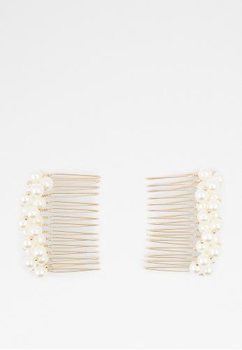 ALDO white Ereiwen Hair Comb Clip AECDFAC48016EAGS_1