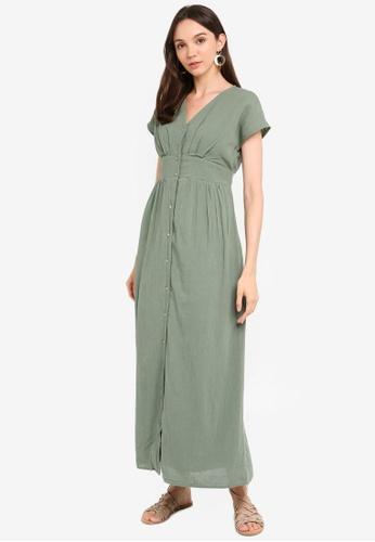 timeless design 08310 75d82 Sammi S/L Wide Ankle Button Dress