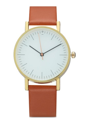 NUVEAU brown Round Face Strap Watch 8EC2CACF66EFEDGS_1