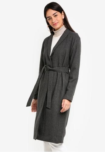 Vero Moda grey Emilia Coat 4321BAA2F841EDGS_1