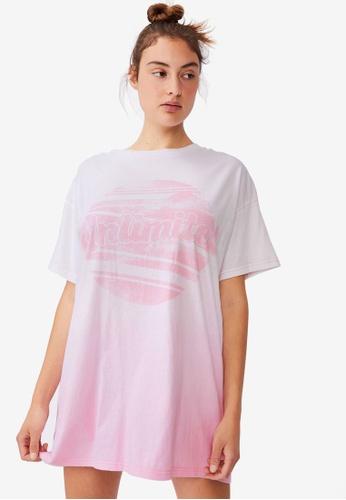 Cotton On Body pink 90s T-Shirt Nightie 7B15DAAF2D9440GS_1