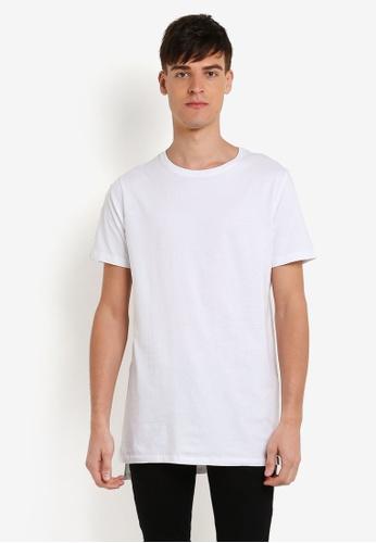 Factorie white Drop Tail Tee FA880AA0RYA9MY_1