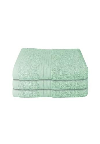 Milton Home green SET OF 3 Milton Home Juro -SBT 100% Cotton Sports Bath Towel 60x110cm/ 270g. 9E9F1HLEC6BF9BGS_1