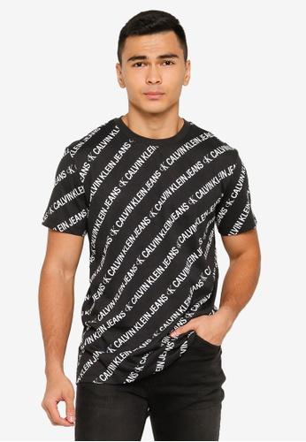 Calvin Klein black Reg Instit Aop Tee - CK Jeans 936CFAA40BCB7DGS_1