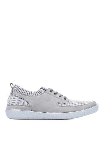 Life8 grey Mens leather casual shoes-09661-Grey LI286SH0RR58MY_1