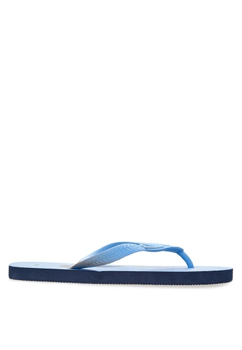 BENCH blue Printed Rubber Slippers BE550SH14LTHPH_1