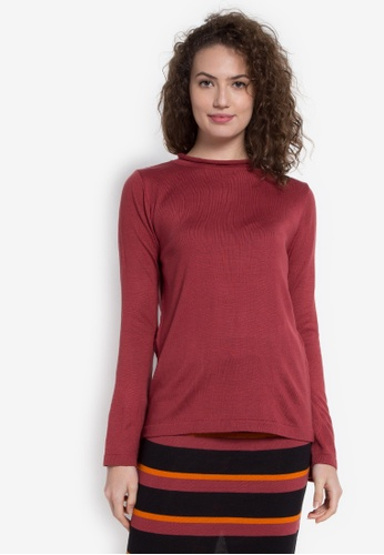 Chloe Edit red Pullover with Bell Sleeves CH672AA0JZC6PH_1