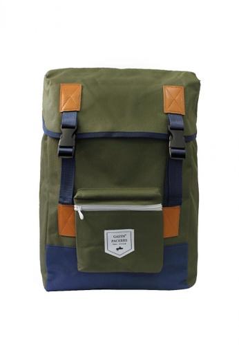 GreyPlus green Gavin Backpack GR720AC0FJX2SG_1