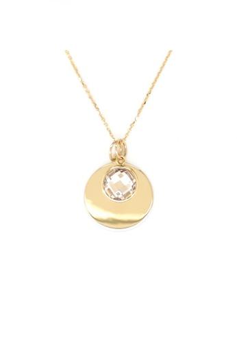 KARAT WORLD gold HQZ 14Kt Yellow Gold Chain Pendant D5F4FAC2464646GS_1