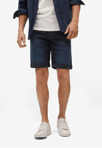 Mango Man blue Dark Denim Bermuda Shorts DD668AA5FC7FA7GS_1