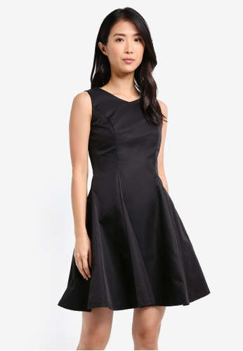 ZALORA black Structured Fit and Flare Dress 79FFDAAFE17039GS_1
