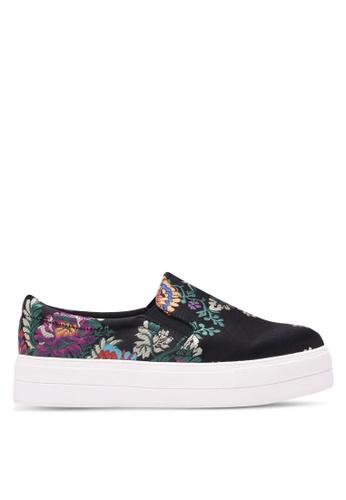 Nose black Floral Slip Ons NO327SH0S6V4MY_1