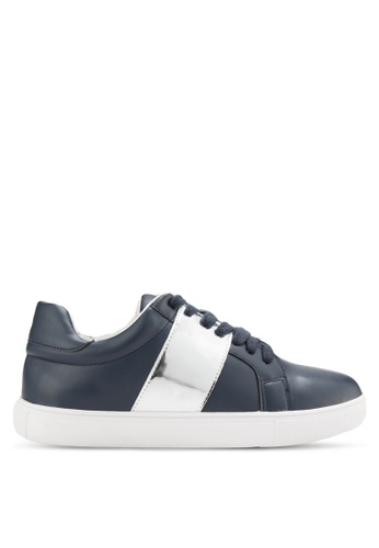 addicts anonymous navy Violet Metallic Strap Sneakers AD479SH45MJQMY_1