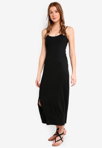 ZALORA BASICS black Basic Cami Midi Dress 677CCAA37FD092GS_1