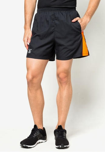 FBT black and orange Running Shorts FB325SE95MOQSG_1