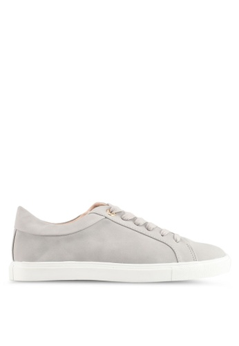 TOPSHOP grey Cookie Lace Up Trainers 0AE6BSH58CFE55GS_1