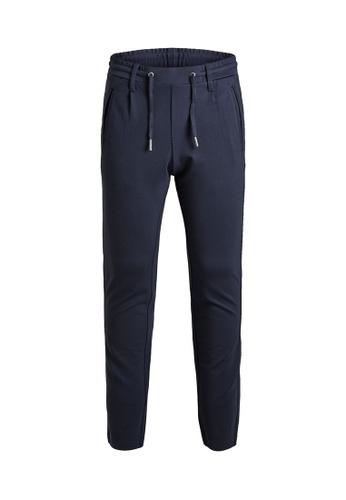 Jack & Jones navy Vega Trousers 3BB05KAF1B623BGS_1