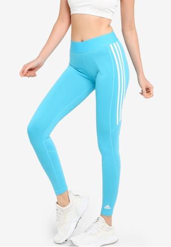 ADIDAS blue alphaskin 3-stripes long tights A80CFAAF758357GS_1