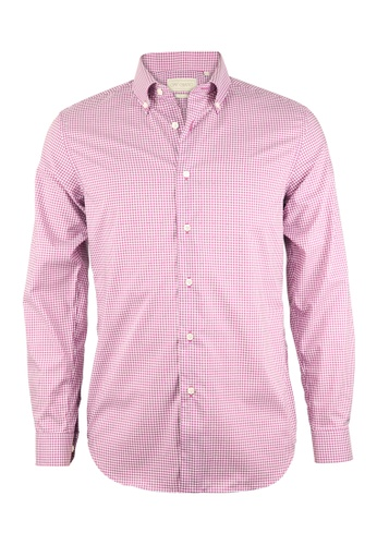 Gay Giano purple Slim Fit Button Down Premium Cotton Shirt 3A756AA7B5AA7EGS_1