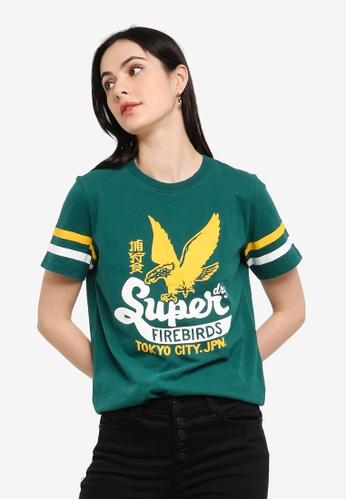 Superdry green Bonded Varsity Tee - Original & Vintage 95B69AA94A4A73GS_1
