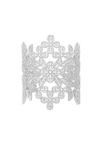 Jaysa Collection silver Princess Silver Filigree Bracelet Cuff JA875AC0GQA1SG_1