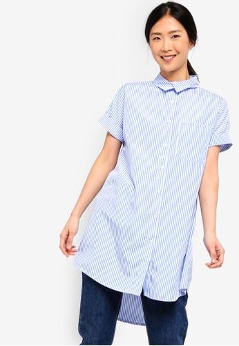 ZALORA BASICS blue and multi Basic Long Shirt 5CD0FAA0DEC7C2GS_1
