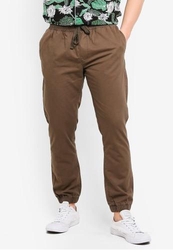 Brave Soul green Fine Cotton Twill Pants with Cuff Hem DE503AA00E7E8EGS_1