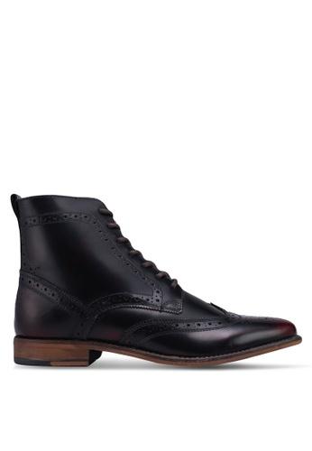 Topman red Hale Brogue Boots B167ESH876B88DGS_1