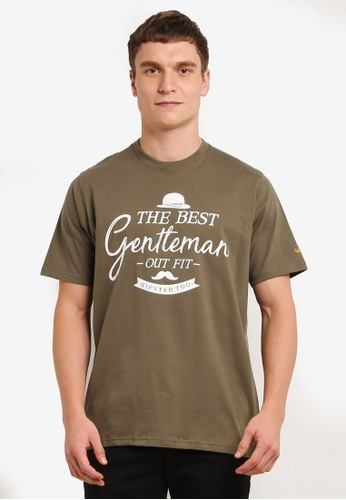 Private Stitch green T-Shirts with Gentleman Printed Logo PR777AA0S8QSMY_1