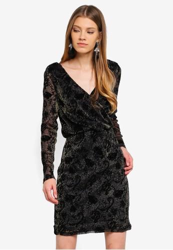 ONLY black Tayla Long Sleeve Dress 94EA9AA33A64E9GS_1