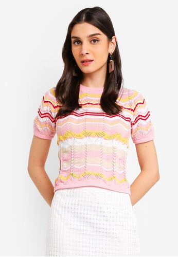ZALORA 粉紅色 針織上衣 6A67CAA55B6FE9GS_1