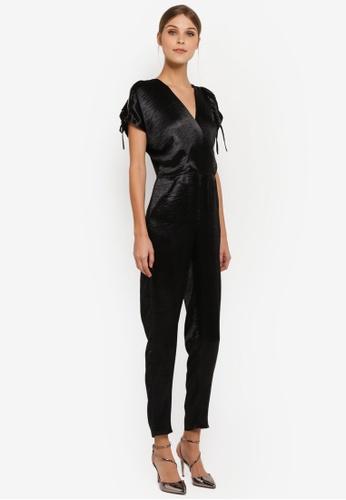 CLOSET black Open Shoulder Wrap Jumpsuit CL919AA0SIL1MY_1