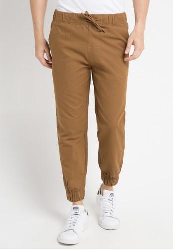 Malibu brown Jogger woven long pants MA962AA0WE5TID_1