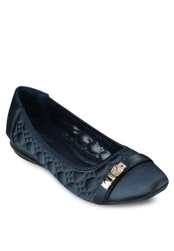 扣環軟襯縫線平底esprit 尖沙咀鞋, 女鞋, 鞋