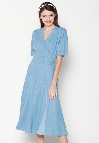 JOVET blue Wrap Front Denim Dress 2BA42AA51EA626GS_1