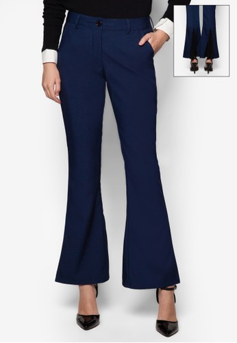 Leonie 拼接喇叭長褲, 服飾, 服zalora時尚購物網評價飾