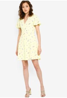 ba2897eb95a98 French Connection Frida Armoise Crepe Flippy Dress RM 511.00. Sizes 6 8 10  12