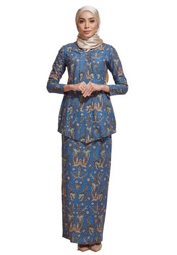 HABRA Kara Kebaya Batik KR60 from HABRA in Green and Brown