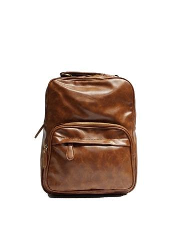 Lara brown Men's Top-Handle Plain Backpack 747B0AC85D85A2GS_1