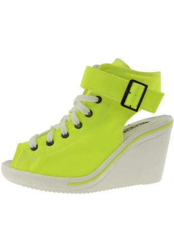 Maxstar Maxstar Women's 775 Open Toe Ankle Strap Canvas Wedge Heel Sandals US Women Size MA168SH54BSNHK_1