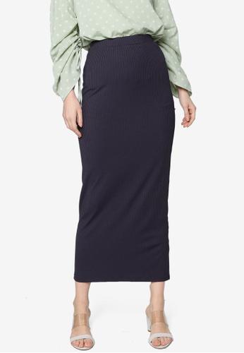 ZALIA BASICS grey Basic Knit Skirt 3FC2DAA96C0A00GS_1