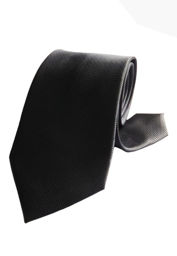 Well Suited grey Microcheck Necktie B44E4AC2B2D510GS_1