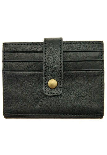 LUXORA black The Ninja Co. Top Grain Leather Billfold Multicard Wallet Card Gifts Purse Holder A2E9EAC3089F11GS_1