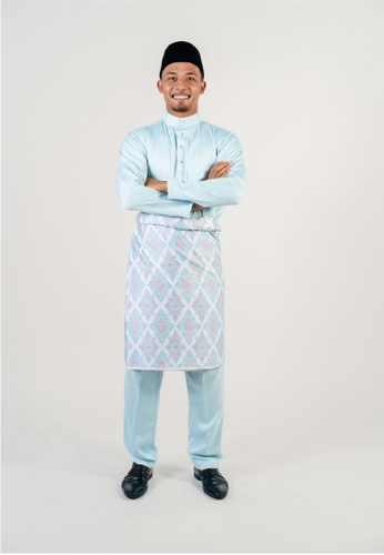 Khalifah by N blue and multi Baju Melayu Cekak Musang 2.0 Slim D4670AAE8E6FC5GS_1