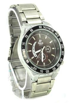 Valia Evan Unisex Brown Stainless Steel Strap Watch 8179-2