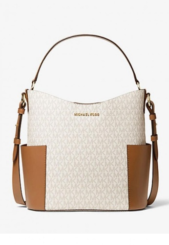 Michael Kors brown MICHAEL Michael Kors Bedford Medium Logo Shoulder Bag 8A0B5AC34FCD7EGS_1