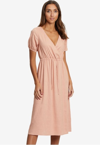Calli pink Adele Midi Dress 6B0EEAAFEFA512GS_1