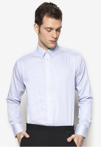 細緻紋理長袖esprit 台北襯衫, 服飾, 服飾