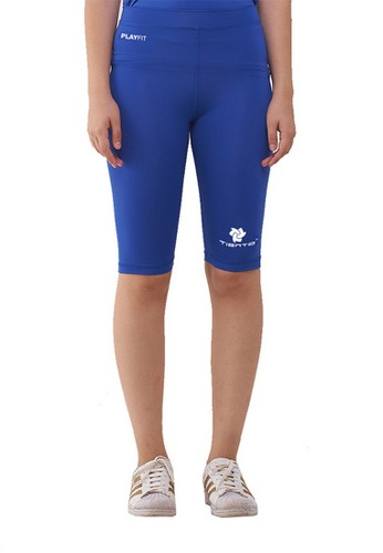 Jual Tiento Tiento Women Compression Half Pants Blue Celana Legging Leging Selutut Wanita Olahraga Original Original Zalora Indonesia